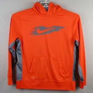 Nike Therma-Fit Sweater Hoodie Youth XL Orange